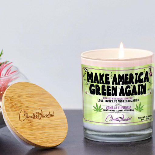 Make America Green Again Lid And Candle