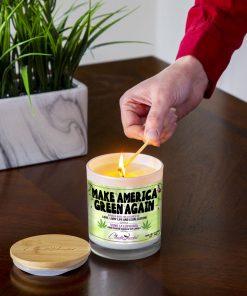 Make America Green Again Lighting Candle