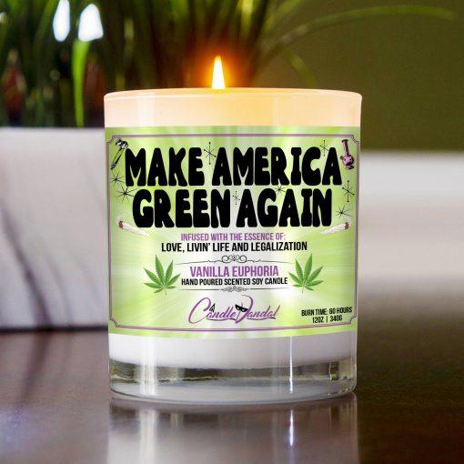 Make America Green Again Table Candle