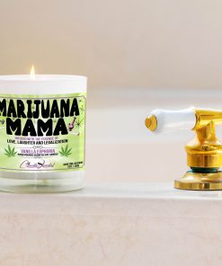 Marijuana Mama Bathtub Side Candle