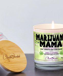 Marijuana Mama Lid And Candle