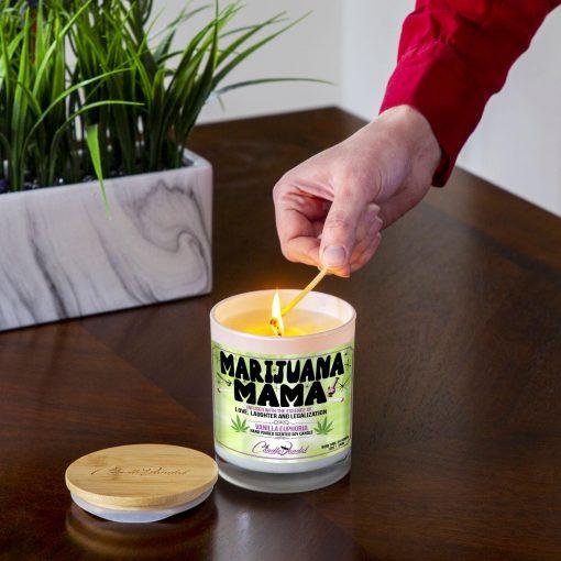 Marijuana Mama Lighting Candle