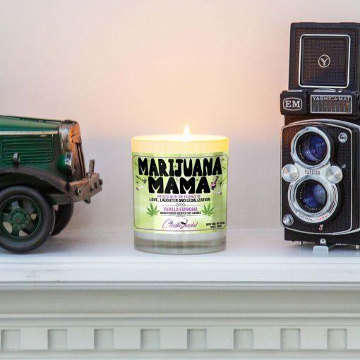 Marijuana Mama Mantle Candle
