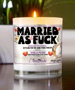 Married As Fuck Table Candle