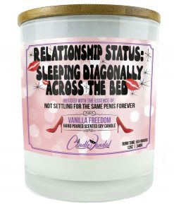 Relationship Status Sleeping Diagonally Across The Bead Candle