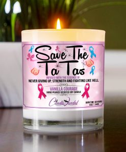 Save The Ta Ta's Table Candle