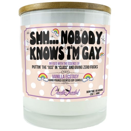 Shh Nobody Knows I'm Gay Candle