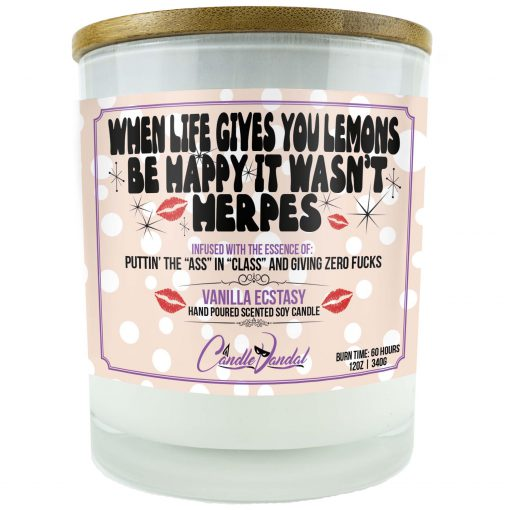 When Life Gives You Lemons Be Happy It Wasn't Herpes Candle