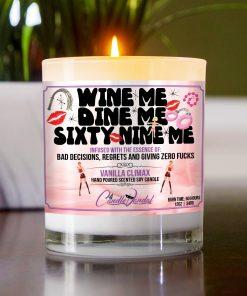 Wine Dine Sixty Nine Me Table Candle