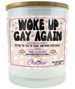 Woke Up Gay again Candle