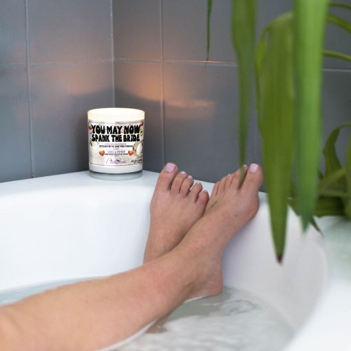 You May Now Spank The Bride Bathtub Candle
