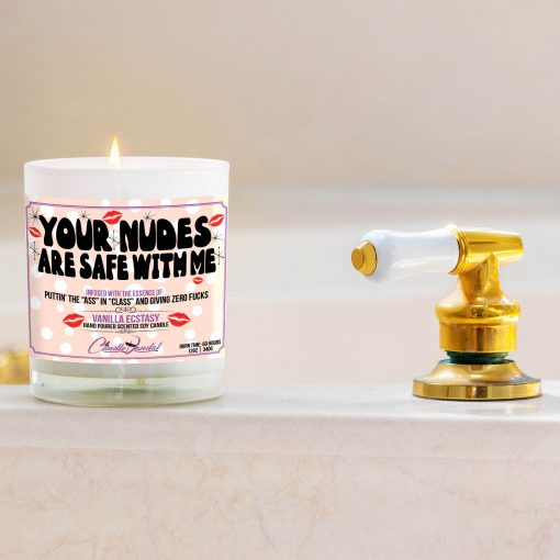 Your Nudes Are Safe With Me Bathtub Side Candle