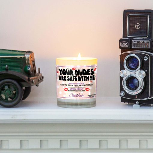 Your Nudes Are Safe With Me Mantle Candle