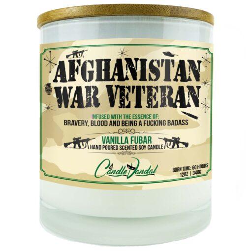Afghanistan War Veteran Military Candle